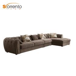 Mobiliário contemporâneo dignidade luxuosos sofás espuma de alta densidade