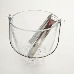 Populares Barware Vidro balde de gelo para Beer