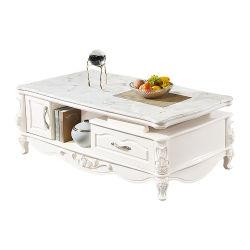 居間の家具のヨーロッパ式の贅沢な卸売MDFのTVの立場が付いている大理石の上のコーヒーテーブル
