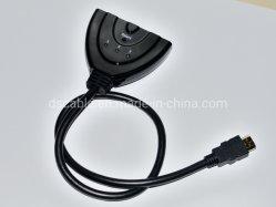 Conmutador HDMI 3 entrada 1 salidas, divisor de 4K de soporte