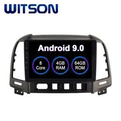 Witson Android 9.0 Car Audio Video para Hyundai 2006-2012 Santa Fe 4GB de RAM 64 GB de memoria Flash Pantalla grande en el coche reproductor de DVD