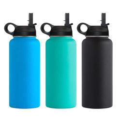 Wevi large bouche double paroi en acier inoxydable isolation sous vide fiole Thermos Sports Bouteille d'eau potable avec logo personnalisé