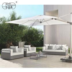 Renel modernes Haupthotel-im Freienseil Chillout Aufenthaltsraum-Rattan-Form-Patio-Garten-Möbel mit Stuhl-Tisch-Freizeit-Sofa-Set