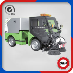 Spazzatrice stradale a quattro ruote sterzanti, marca macchina per la pulizia a depressione Spazzatrice per parcheggio con CE