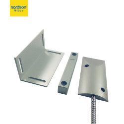 Fácil de instalar alarme de liga de zinco vidro da porta magnética do sensor de Contato para garagem