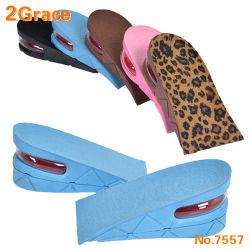 Nuevo taller de 2 capas talón Suela de Zapato Insertar la almohadilla de aumentar la altura de elevación Cojín de aire