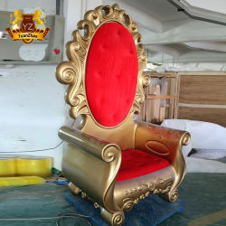 대형 레진 산타 의자 크리스마스 산타 옥좌에 앉기 위한