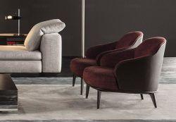 Los diseños de italiana de muebles de salón solo tejido del asiento reclinable Hotel Sofá con los brazos
