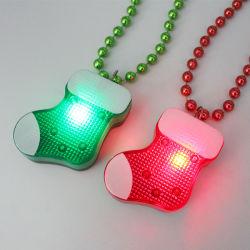 Lumière de Noël jusqu'DEL clignotant en bas de Noël Collier de perles