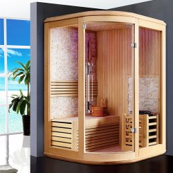 Stone Background Dry Heat Home Een Persoon Corner Sauna Kamer