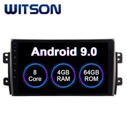 Witson Android 9.0 Car Audio Video 2006-2012 para Suzuki SX4 4GB de RAM 64 GB de memoria Flash Pantalla grande en el coche reproductor de DVD
