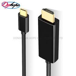 USB-C zu HDMI Kabel kundenspezifischem Längen-Mann zum männlichen Konverter