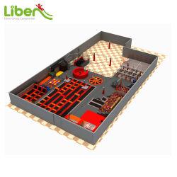 Trampoline 3D commerciale Liben parc avec des cours de Ninja, de la mousse fosse, planeur de rouleau