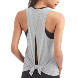 En blanco personalizados Athletic Deporte transpirable de las Mujeres Tank Top
