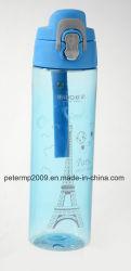750ml Plastique Bouteille d'eau nouvellement Sport avec une grande capacité (HN-3007)