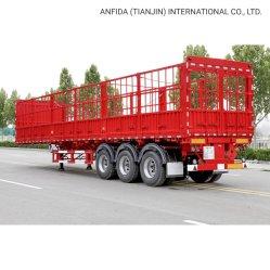 3 Achse Schwerlastvieh Viehhaltung/Zaun/Pfahl Utility Cargo Lkw-Sattelanhänger