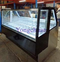 expositor de helados de alta calidad con aprobación CE