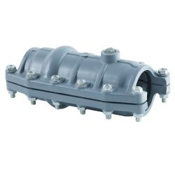 La pression en PVC PVC pression des raccords de joint de la selle avec Cooper mixte de la vis de la broche