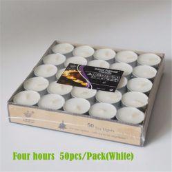 Luz de chá branco grossista Velas Tealight 8 horas de velas