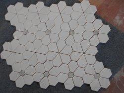 Fabrik-Preis-Blumen-Produkt-Carrara-Marmormosaik-Ziegelstein