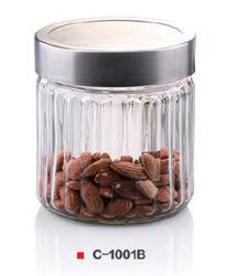Ensemble de la cartouche avec couvercle En acier inoxydable boîtes scellées thé/café/Sucre Accueil Jar Flacons de stockage