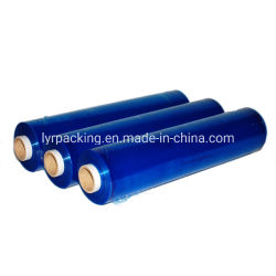 450mm 1500ft 17 Mic pellicule de plastique noir/rouge/bleu Film étirable/main pour la palette d'emballage d'enrubannage