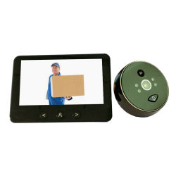 """4,5"""" видео двери Peephole Viewer пассивные инфракрасные детекторы движения обнаружить цифровой двери Viewer"""