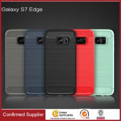 Het nieuwe Geval van de Korrel TPU van het Draadtrekken van het Ontwerp voor de Melkweg van Samsung S7/S8