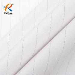 Обычная соткать белой ткани с полиэстер хлопок