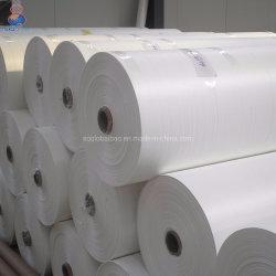 PP بعرض مسطح 210 سم/214 سم غطاء حصيرة قماش أبيض