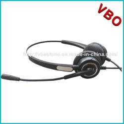 USBのコンピュータのヘッドホーンを取り消すMicの騒音のコールセンターのVoIPのヘッドセット