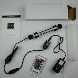 Сша и ЕС/AU/UK пробку светодиодный индикатор в аквариуме рыб и индикатор резервуара для воды с 24 ключ пульта дистанционного управления