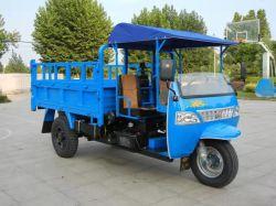 Moto 3 ruedas con cabina y cubo de basura de triciclos de Motor Diesel