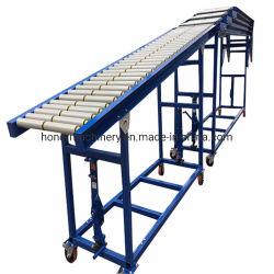 Gravidade expansíveis flexível cheio de descarga do transportador de rolos automática do Container