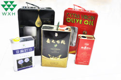 Metal lata 750ml Tin Box bidones de aceite de Oliva Virgen Extra