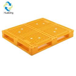 منصة بلاستيكية عالية الكثافة عالية الكثافة سطحية شبكة مزدوجة الجانب للخدمة الشاقة من أجل التكديس