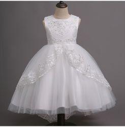 리틀/빅 걸 플라워 레이스 라인스톤 웨딩 하이 로우 드레스 공식 파티 댄스 이브닝 쇼트 가운 에스게13540
