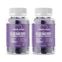 Suplemento dietético de la Salud Extracto natural de fruta Vegan Elderberry Samcubusflavor Gummies