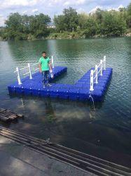 Barche di Ponton che fanno galleggiare i Floaters di alluminio della piattaforma della struttura WPC della base di piattaforma del lavoro di immersione subacquea