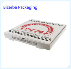 Papel Kraft branco personalizadas Packaigng Pizza Box