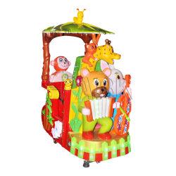 Guangzhou-Tierpark-Münzen-Zug-Kind-Spiel-Maschinen-Säulengang-Spiel-Maschinen für Verkauf