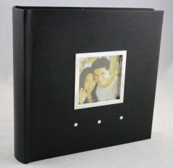 標準的で黒い革家族写真のアルバム(PA-023)