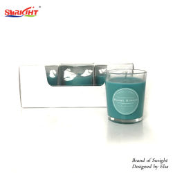 des Tellersegment-6PCS VanilleGardenia Kasten-des Satz-2%/Ozean-Brisen-roter Beeren-Lavendel-duftende Votive Kerze im Glasglas-Behälter mit SGS-Report