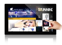 Moldura de fotos digitais de tela sensível ao toque de 13,3 polegadas com rede