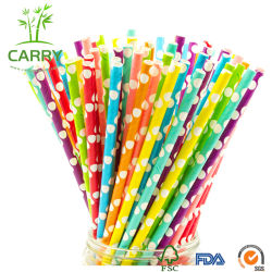 Biodegradierbares DOT Paper Straws Drinking Straw (8*196mm)