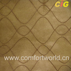 Imitation cuir velours brodé Tissu (SHSF04215)