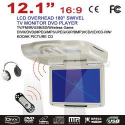 12.1'' Flip vers le bas Voiture Lecteur de DVD avec TV USB SD émetteur FM de jeu sans fil IR