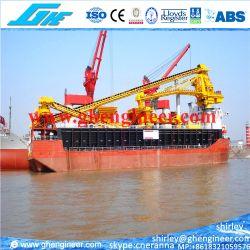 Terminal de descarga de la grúa barcaza flotante
