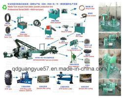 Xkp450 semi-automatique machine de recyclage de pneus pour s'4-40maille de la poudre en caoutchouc