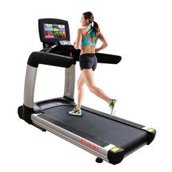 Salle de gym de l'équipement commercial de tapis de course sur tapis roulant à usage intensif avec moteur AC 7 hp